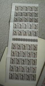 Vintage Sheet of 50 Stamps WWII Belgium #613 Belgique Belgie TB 50+10C