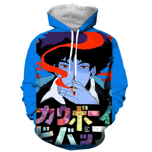 Women Anime Cowboy Bebop Full Size Printing Pocket Hooded