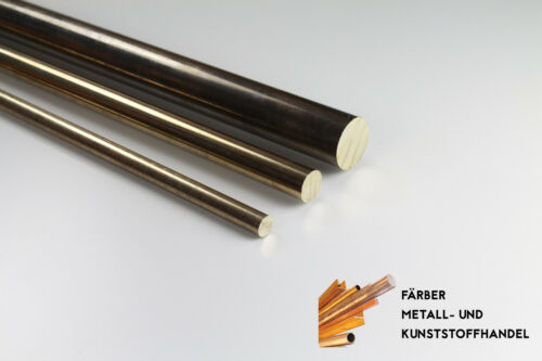 Bronze Aluminiumbronze CuAl10Ni5Fe4 Rundmaterial Rundstange Länge frei wählbar