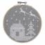 Puntada-cruzada-contada-Kit-Con-Aro-nivel-principiante-Navidad-con-dibujo-de-buho miniatura 3