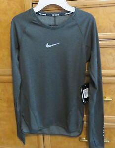 Women s Nike dri-fit running gray long sleeve shirt size XS brand ... 8770845e79b1a