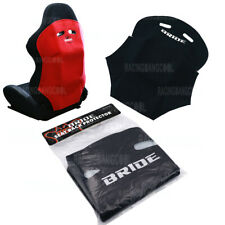 New 1 Pcs Jdm Black Racing Seat Cover Pure Cotton Seat Dust Boot With Bride Logo