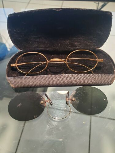 Antique Eye Sunglasses 1930's-1950's with case