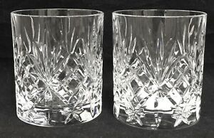 RARE-Royal-Crystal-Rock-OVERTURE-2-Double-Old-Fashioned-Glasses-EXCELLENT
