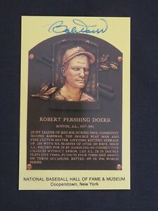 Guaranteed Authentic Bobby Doerr Autographed Gold Hall Of Fame Plaque HOF