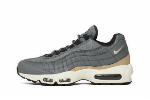 SZ 13 NIKE AIR MAX 95 PRM PREMIUM WOOL 538416-009 COOL GREY BLACK MUSHROOM WHITE