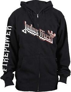 JUDAS PRIEST Firepower Album Cover HOODIE SWEATSHIRT + ZIP OFFICIAL MERCHANDISE
