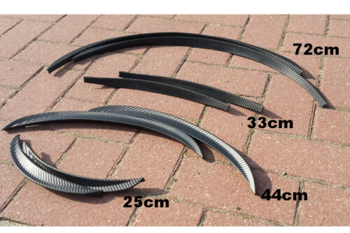 71cm FORD KUGA UNIVERSALE 2 X Carbonio parafango tagliare carbone fibra CERCHI