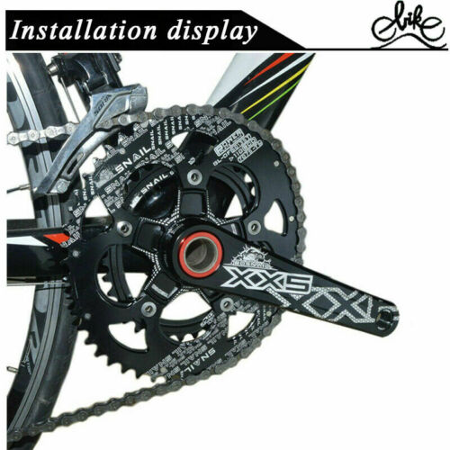 SNAIL MTB Road Bike Chainring 50//35T 110BCD Double Speed Oval Chainwheel CNC US