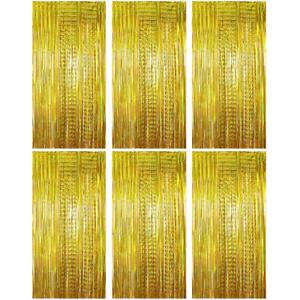 4stk 1m x 2m 6stk Lametta Vorhänge Dekoration Folie Vorhang Glitzer Glänzend