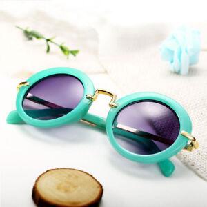 Stylish-Kids-Boys-Girls-Children-Retro-Round-UV400-Sunglasses-Goggles-Fashion