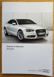 audi a5 s5 coupe and sportback handbook owners manual 2011 2016 main rh ebay co uk 2012 audi a5 owners manual 2012 audi a5 owners manual pdf