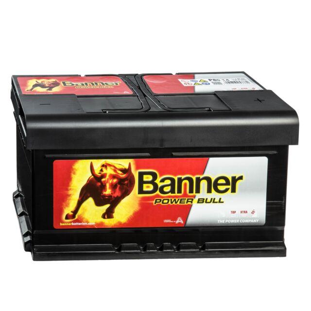 Banner POWER BULL 12V 80Ah P8014 Batterie Autobatterie 75 78 82 85Ah