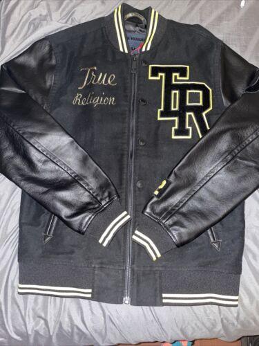 true religion collegiate moleskin bomber jacket