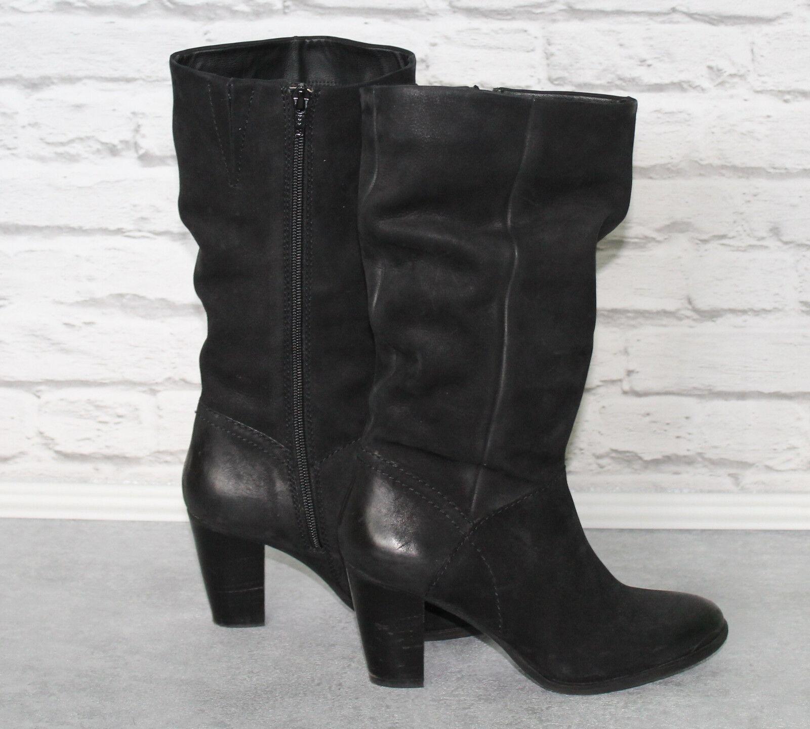 SPM Damen Stiefelette schwarz Gr. 36 37 38 Leder Neuwertig