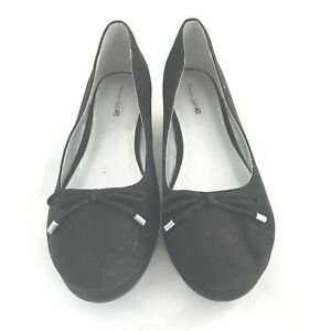 American-eagle-Outfitters-Black-Wedge-Shoes-Womens-Size-4-Slip-ons