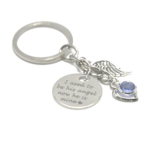 J/'ai utilisé pour être son ange maintenant il est mine Memorial Collier Bracelet Porte-clés Signet