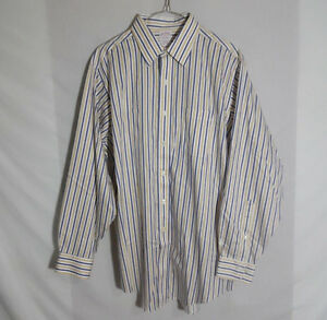 Brooks-Brothers-Mens-Button-Down-Dress-Shirt-Traditional-Fit-Striped-Size-16-2-3