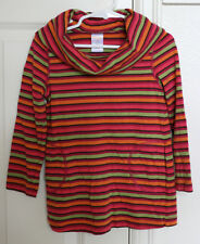 GYMBOREE Fall Homecoming Girls Striped Shirt Top Sz 4 years VGUC