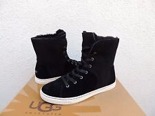 UGG BLACK CROFT SUEDE SHEEPSKIN LINED WINTER ANKLE BOOTS, US 10/ EUR 41 ~NIB