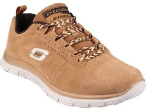 Details about Skechers Flex Appeal Casual Way Ladies Lace Up Trainer UK 3 MEMORY FOAM Wheat