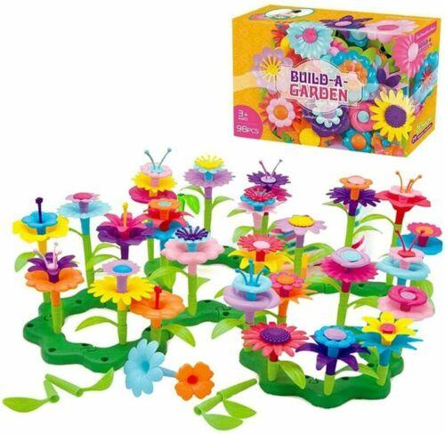 Jouets pour 3 ans filles Blocs de Construction Bébé Flower Garden coloful