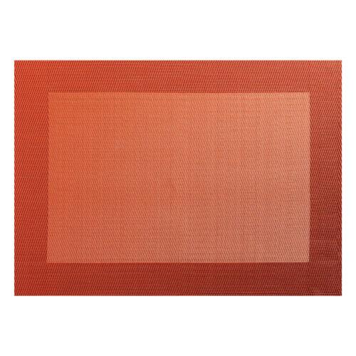 Asa Selection PVC tischset avec Élisée Bord PVC orange foncé B 33 cm 78053076