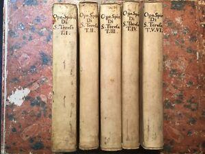 Opere-spirituali-Santa-Madre-Teresa-di-Gesu-6-volumi-Faenza-Benedetti-1789