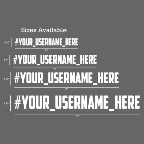4x CUSTOM/_Your/_ Facebook Decals Stickers Lettering personalize car window