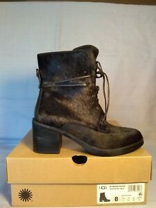 6133b83a23a Details about UGG W ORIANA EXOTIC Laced Ankle Boot, 1019150-US Women's Size  8-New in Box-Black
