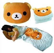 San-x Rilakkuma Relax Bear Back Cushion Pillow Air Conditioning Blanket 2 in 1