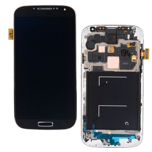 Black for Samsung Galaxy S4 i9508 i9505 LCD Touch Digitizer Screen + Frame UK