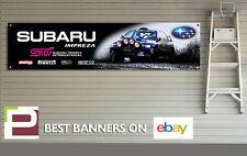 Subaru Impreza Sti Banner para taller, garaje, Richard Burns, Colin McRae Rally