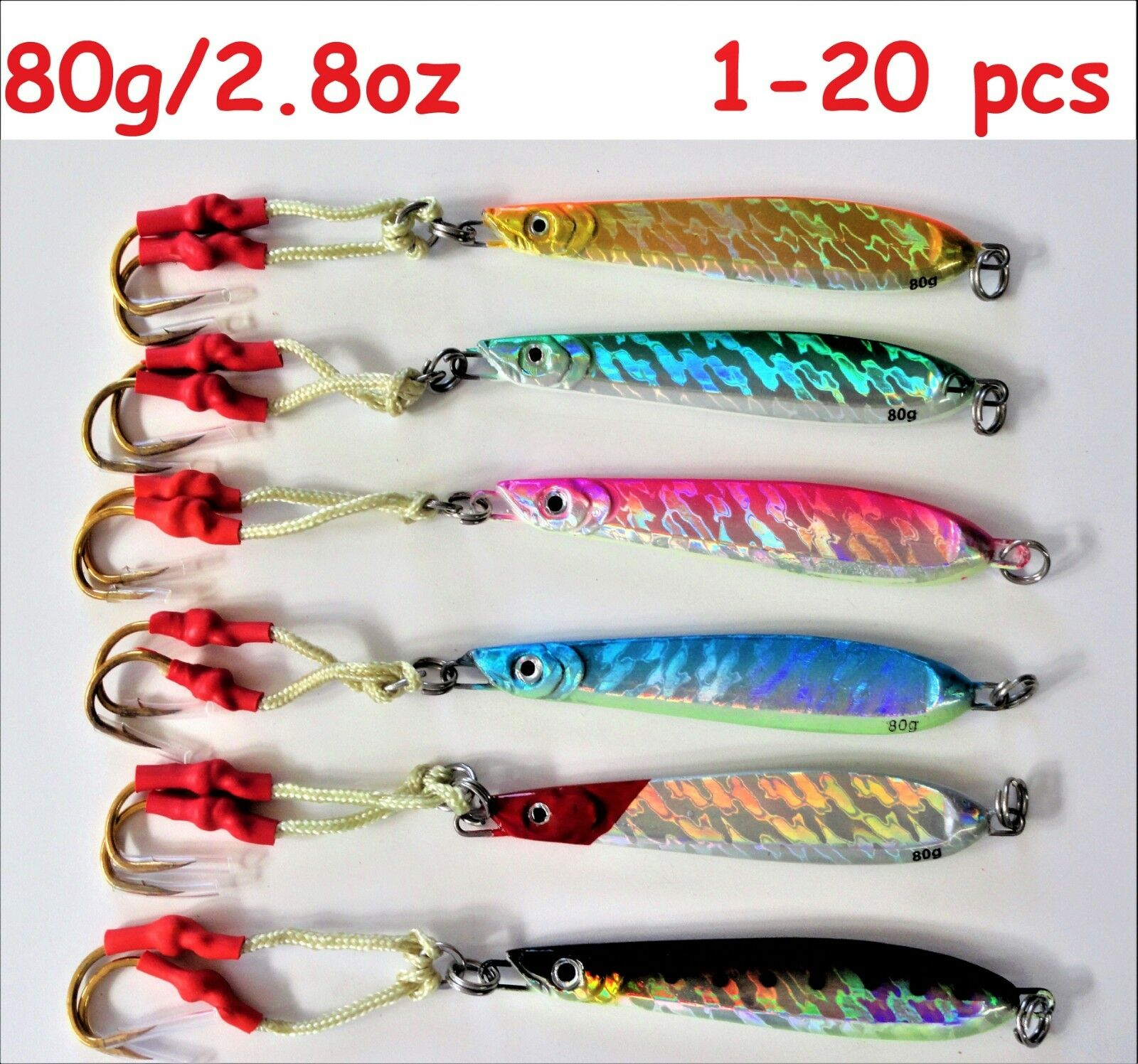 1-20  pcs Knife Jigs 2.8oz   80g greenical Speed Butterfly Saltwater Fishing Lures  fashion mall