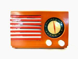 VINTAGE 40s OLD EMERSON WORLD WAR 2 PATRIOT ANTIQUE CATALIN BAKELITE RADIO PLAYS