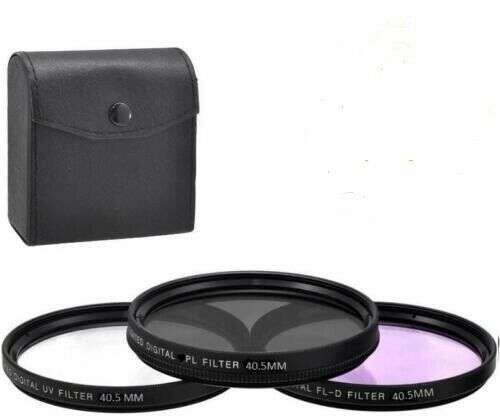 Xit 40.5mm Pro Series  Camera Lens UV-CPL-FLD Filter Kit Black