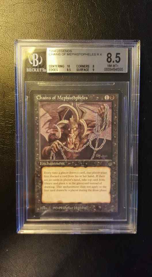 MTG - Chains of Mephistopheles Legends Rare Rare Rare BGS NM M x1 Magic FAST SHIPPING 6aad00