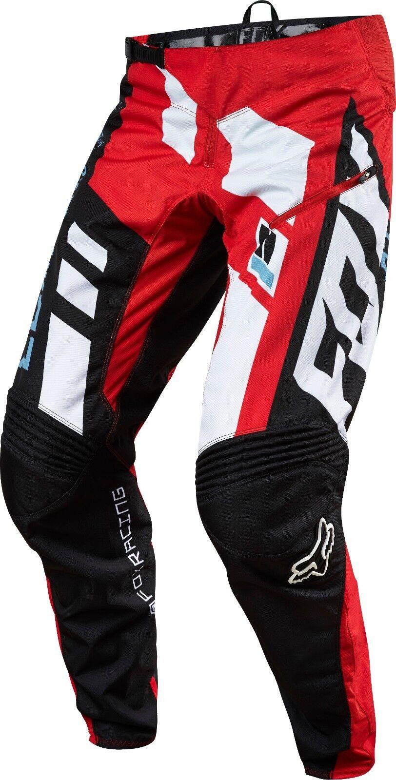 Fox Racing  Demo Downhill Divizion Pantalón Rojo  Precio al por mayor y calidad confiable.