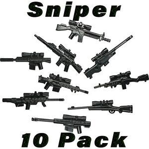 LEGO-Guns-Sniper-Lot-Randomized-SWAT-Weapons-Rifle-Custom-Military-Army-Bulk