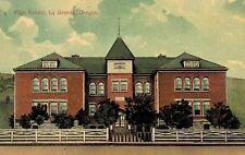 Le Grande,Oregon,High School,Union County,Used,Flag Cancel,No Stamp,1908