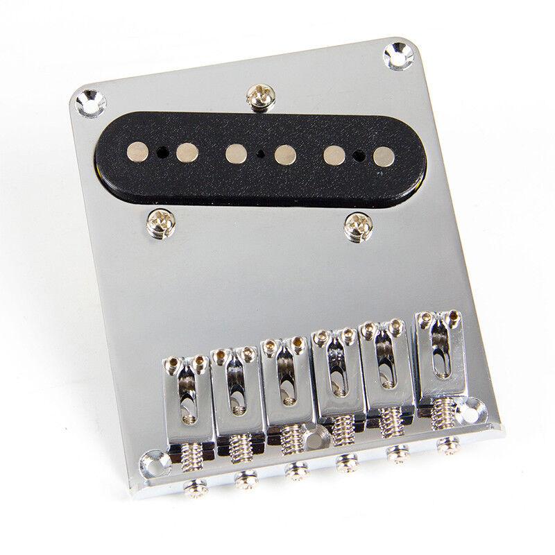6 saddle bridge pickup for fender tele telecaster electric guitar parts chrome 634458285070 ebay. Black Bedroom Furniture Sets. Home Design Ideas
