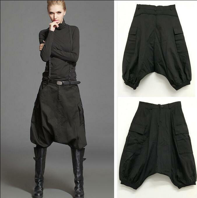 Women Summer Casual Pant Short Fashion Harem Pants Trousers Collapse Cotton