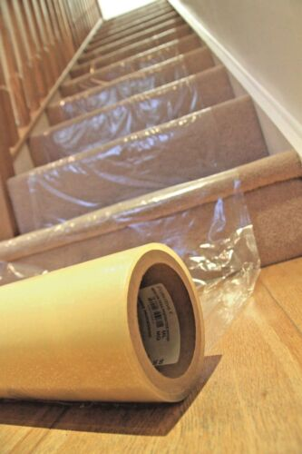 Easily applied 100m2 Carpet Protection very sticky plastic film 1000 mm x100M