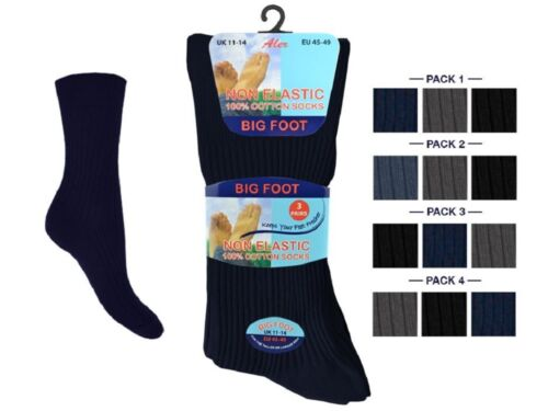 Fit to UK Size 6-11 Men/'s Non Elastic Loose Top Socks,Can be Use for Diabetic