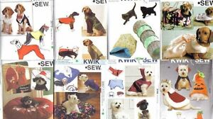 Kwik Sew Pet Sewing Pattern Dog Clothes Cat Toys Accessories Size