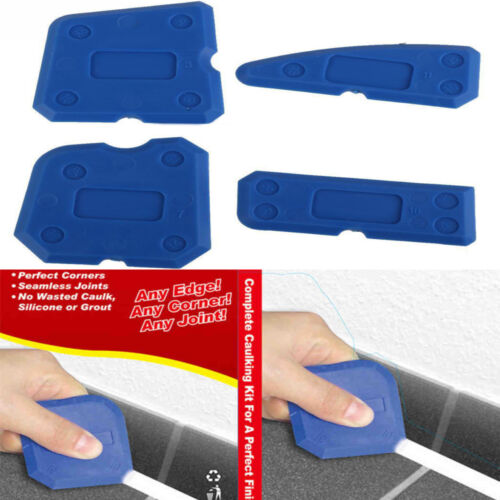4x Caulking Tool Set Silicone Grout Smooth Out Tool Shower Sealant Remover Set
