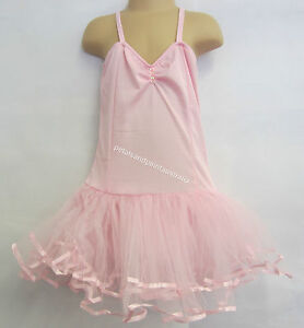 Fairy Dress Ballet Tutu Dance Costume Pink 5-7 Year Polyester Stretch Leotard