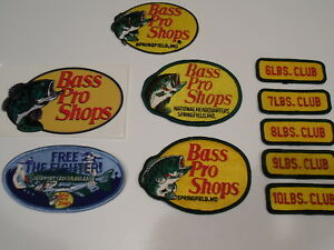 Details about Bass Pro Shops Advertising Embroidered Sew/Iron On Patches &  Decals - NOS