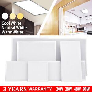 Led Recessed Office Panel Ceiling Lights 1200x600 600x600 1200x300 28w 48w 90w Ebay