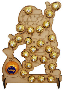 WOODEN-ADVENT-CALENDAR-FITS-FERRERO-ROCHER-amp-CHOCOLATE-ORANGE-CHRISTMAS-SANTA